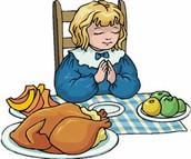 Praying before eating