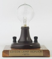 This is a replica of the first light bulb!