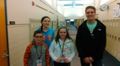Nolan and Olivia Gave away the VIP passes at the Elementary for Battle of the  Fans
