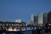 Ice skating rink in the heart of the city