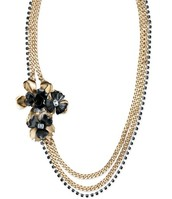 Limited Edition Lizzie Fortunato Black Orchid Necklace (new )
