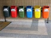 Separating kinds of garbage.