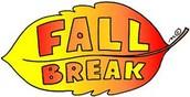 Fall Break, November 23- 27