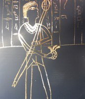 Egyptian Scratch Art