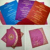 Ladha krishna theme wedding cards