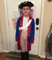 "Avary dressed for the ""Living Museum""."
