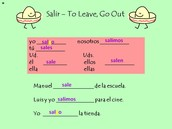 Salir - To Leave, Go Out
