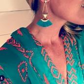 Lotus Tassel Earrings $49