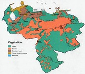 This is Venezuelas rain and map