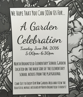 June 7th School Garden Celebration 5:00-6:30