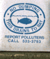 storm drain and river run-off