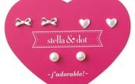 mini pearl trio earring set