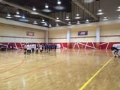 Line-up before NU-KazEU game