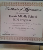 Recognition for Harris KIN!!!!!