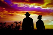 George and Lennie in the sunset