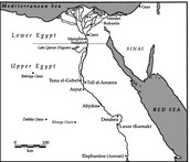 this shows upper and lower Egypt