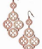 Carmen Chandelier Earrings (rose gold)