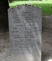 The victims grave that died in the Boston massacre