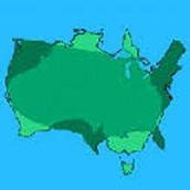 The size of Australia