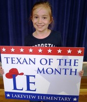 3rd Grade Texan of the Month