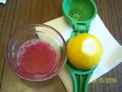 Mixed with lemon juice