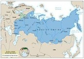 Map of Peter the Great's empire