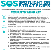 VOCABULARY SCAVENGER HUNT