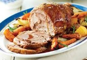 Roast Pork with roasted parsnips and carrots