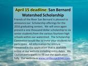 San Bernard Watershed April 15th