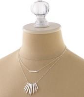 Rebel Cluster Necklace - Silver