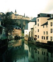 Alzette River, Luxembourg City, Luxembourg