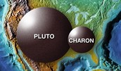 Picture of Pluto and one of its moons
