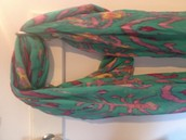 Palm Springs scarf, turquoise ikat