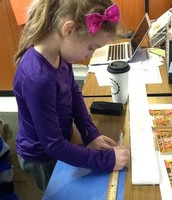 Measuring for 1 inch wide strips