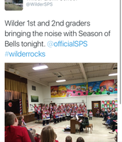 1st and 2nd graders ringing 'dem bells