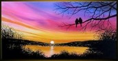 "Our painting for the event will be ""Sunset Duet."""