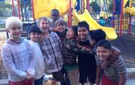 Fun on the playground.