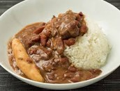 Rice and Stew peas
