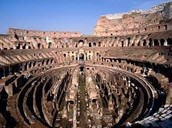 The inside of the colloseum