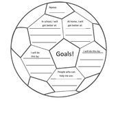 Setting goals can be fun! A sheet for your student who loves sports!