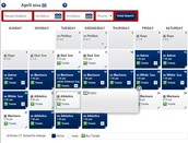 The Texas rangers Schedule for the month of April 2014