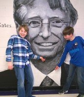 Tickling Bill Gates Chin