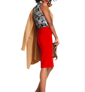 Casablanca Trench, Tango Tank, Overlay Pencil Skirt,