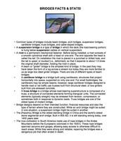 Bridges Facts & Stats Info Page