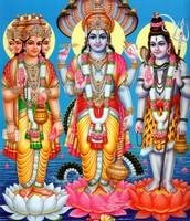Brahma, Vishnu, and Shiva