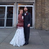 Son D.J. and his wife, Elizabeth!