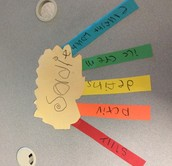 Students created an acrostic poem to celebrate themselves!