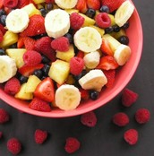 Berries and bananans