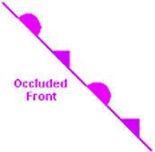 Occluded Front Map Symbol
