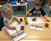 Fun with painting and washing the farm animals!